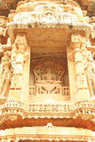 Ancient carvings in massive Chittorgarh Fort and grounds rajasth Stock Images