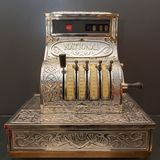 Ancient cash register Stock Photography