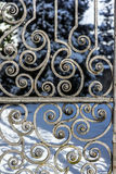 Ancient Cast Iron Gate royalty free stock photos