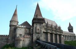 Ancient castle. Medieval castle with mobile bridge Stock Photos