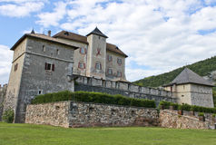 Ancient castle. View of an ancient castle in the northern of Italy, in tyrolean style Royalty Free Stock Photos