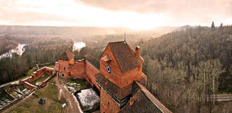 Ancient castle. Castle Turaida. Latvia. The view from inside Stock Image
