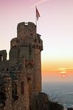 Ancient castle. Sunset behind ancient castle in germany Stock Photos