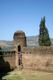 Ancient Castle. In the courtyard of an ancient castle in Gonder, Ethiopia Royalty Free Stock Photo