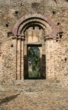 Ancient Castle. A doorway leading to a courtyard in an ancient castle in Gonder, Ethiopia Royalty Free Stock Image