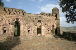 Ancient Castle. An ancient castle in Gonder, Ethiopia Royalty Free Stock Photo