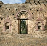 Ancient Castle. A doorway leading to a courtyard in an ancient castle in Gonder, Ethiopia Stock Images