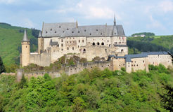 Ancient Castle. Beautiful old castle in Luxembourg, Europe Stock Photo