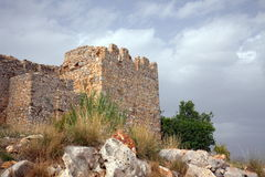 Ancient Castle in Alania. Ancient walls of 13th Century castle in Alania Stock Images