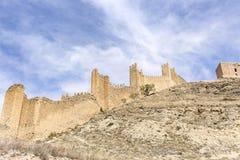 Ancient castle of Albarracin town Stock Image