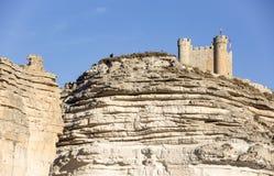 Ancient Castle in Alcalá del Júcar, Albacete, Spain Stock Images