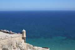 Ancient castle in Alicante, Spain Royalty Free Stock Photography