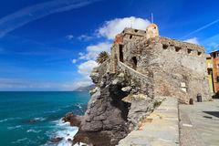 Ancient castle in Camogli Royalty Free Stock Image