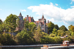 The ancient castle in Canada Royalty Free Stock Images