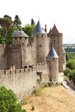 Ancient castle of carcasonne Stock Images
