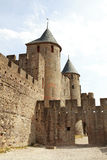 Ancient castle of carcasonne Royalty Free Stock Photos