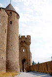 The ancient castle of carcasonne Royalty Free Stock Photography