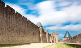 Ancient castle Carcassonne, France. Stock Photos