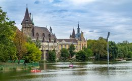 The ancient castle in the center of Budapest Hungary monuments of architecture royalty free stock photography