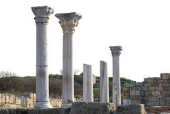 Ancient castle with columns Royalty Free Stock Image