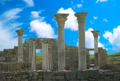 Ancient castle with columns Stock Images