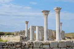Ancient castle with columns Stock Photos
