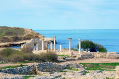 Ancient castle with columns Royalty Free Stock Photography