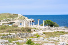 Ancient castle with columns Royalty Free Stock Images