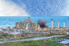 Ancient castle with columns Stock Photo