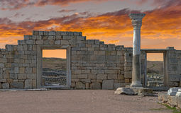 Ancient castle with columns Stock Photography