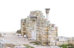 Ancient castle with columns Royalty Free Stock Photo