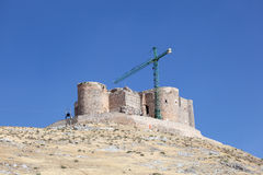 Ancient castle in Consuegra, Spain Royalty Free Stock Images