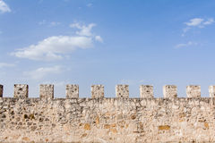 Ancient castle defensive wall Stock Image