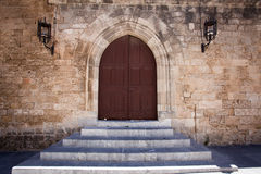 Ancient castle door Royalty Free Stock Image