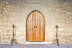 Ancient castle door at the Palace Royalty Free Stock Photography