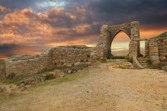 Ancient castle at dusk Stock Photos