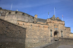 Ancient Castle in Edinburgh Stock Photos
