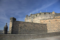 Ancient Castle in Edinburgh Stock Photography