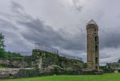 Ancient Scottish Castle Ruins in Irvine Scotland stock photos