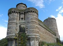 Ancient castle Fougeres Stock Image