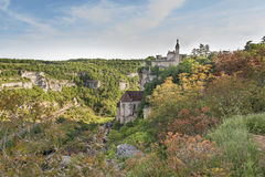 The ancient castle in France, Rocamadour. The ancient castle in the France, Rocamadour Royalty Free Stock Photography