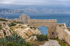 Ancient castle on Frioul island near Marseille, France Royalty Free Stock Photography