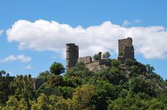 ancient castle in Grimaud, France Royalty Free Stock Photography