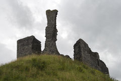 Ancient castle on hill Royalty Free Stock Images