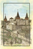 The ancient castle, illustration Stock Photo