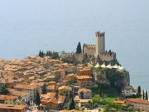 Ancient castle in  Italy Royalty Free Stock Photos