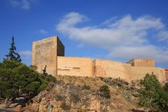 Ancient Castle La Mola of Novelda, Alicante, Spain. Stock Image