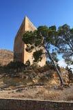 Ancient Castle La Mola of Novelda, Alicante, Spain. Stock Image