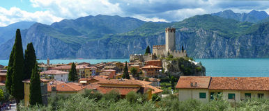 Ancient Castle at Lake Garda Royalty Free Stock Photos