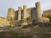 Ancient castle located in the city of Óbidos - Portugal stock photography